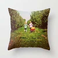 friendship Throw Pillows featuring Friendship  by Jo Bekah Photography
