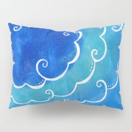 Silver linings on blue Pillow Sham
