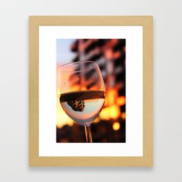 The Hour Is Wine Framed Art Print