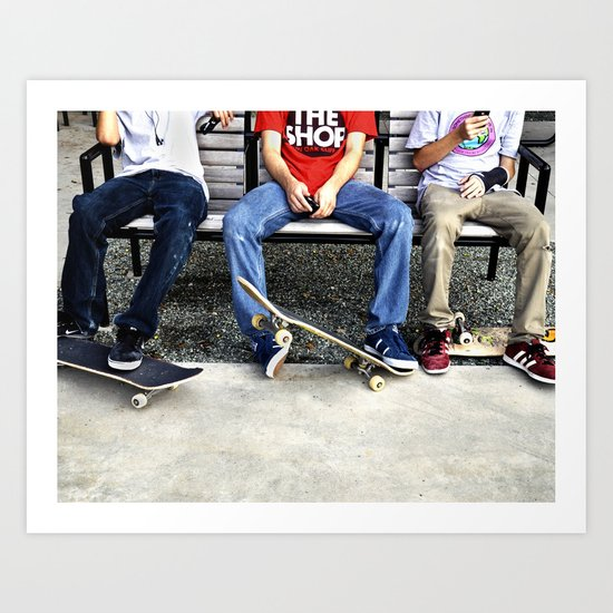 Skaters, Dallas, TX Art Print