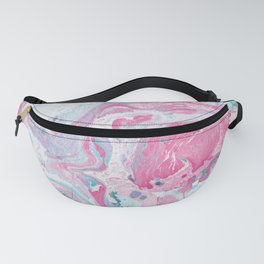 Marbled Spring | Marbled Painting | Swirl Fanny Pack