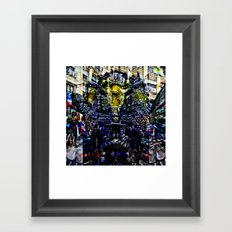 like a choice between imagined and/or actual fears Framed Art Print
