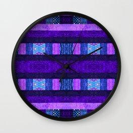 Quilt Top - Deep Purple Wall Clock