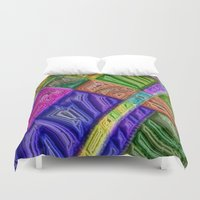 agate Duvet Covers featuring Agate by RingWaveArt