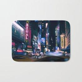 Neon Signs in New York, USA / Night City Series Bath Mat
