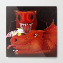 Into the Dragon's Den Metal Print