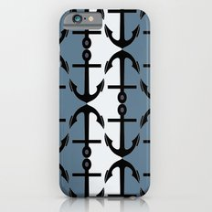 Anchors: Teal, White and Perrywinkle iPhone 6s Slim Case