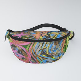 Welcome To The Machine Pink Orange Fanny Pack