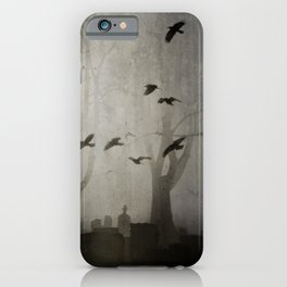 Gothic Crows Eerie Ceremony iPhone Case
