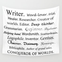 Writer Wall Tapestry
