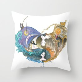Love Story That Repeats Itself Throughout Time Throw Pillow
