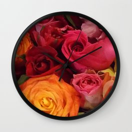 A Summer Bouquet Wall Clock