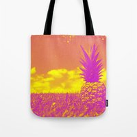pinapple Tote Bags featuring Pinapple  by creativenomad