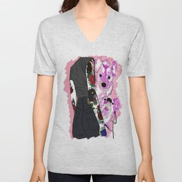 Colorfully outlines Unisex V-Neck