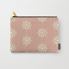 Starburst Retro - Blush Pink Carry-All Pouch