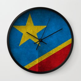 National flag of the Democratic Republic of the Congo, Textured version (to scale) Wall Clock