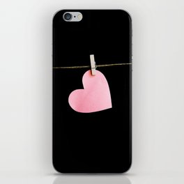 Heart of paper iPhone Skin