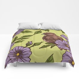 Purple Wild Rose Comforters