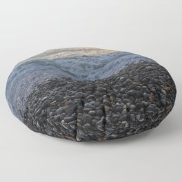Rocky Shores of Peru Floor Pillow