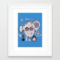 miyazaki Framed Art Prints featuring Miyazaki Tribute by DarkChoocoolat