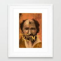gustav klimt Framed Art Prints featuring 50 Artists: Gustav Klimt by Chad Beroth