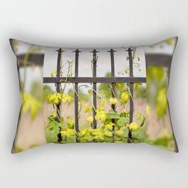 Climbing Humulus or hop growing Rectangular Pillow