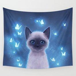 Siamese kitten Wall Tapestry