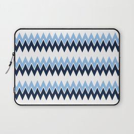 Navy + White | Bel Air Modern Flame Stitch Pattern Laptop Sleeve
