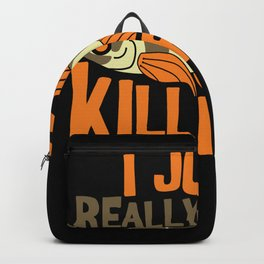 I JUST REALLY LIKE Killifish I Funny Aquaristic graphic Backpack