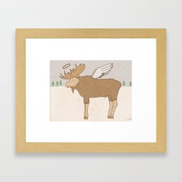 Holy Moose Framed Art Print