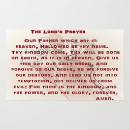 The Lord's Prayer Rug