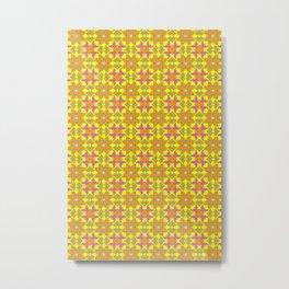 Fall Colors Tiled Patterns Metal Print