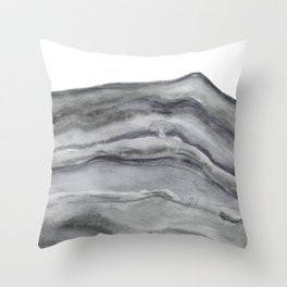 Watercolor Agate in Gray Throw Pillow