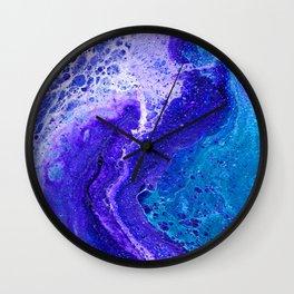 Purple Wave of Seafoam Wall Clock