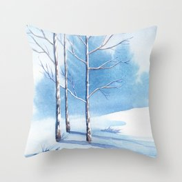 Winter scenery #6 Throw Pillow