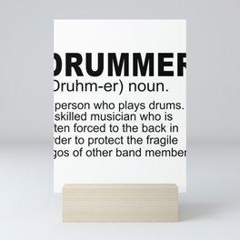Drummer Definition Mini Art Print