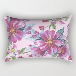 Apple Blossom Pattern 02 Rectangular Pillow