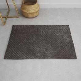 Abstract vintage gray brown black geometrical pattern Rug