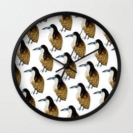 Bird in Water Color Wall Clock