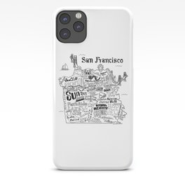 San Francisco Map Illustration iPhone Case