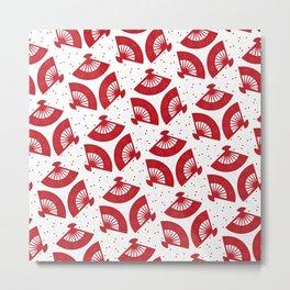 Red Folding Metal Print