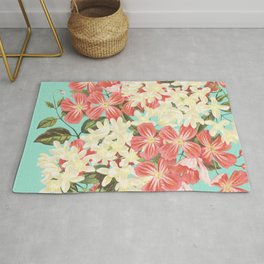 Clematis Floral Pattern Rug
