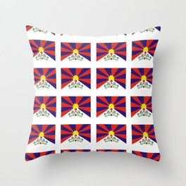 flag of thibet,བོད,tibetan,asia,china,Autonomous Region,everest,himalaya,buddhism,dalai lama Throw Pillow