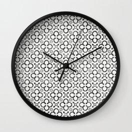 QUATREFOIL BLACK Wall Clock