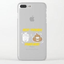 Bestfriends Forever Funny Dirty Joke Friendship Friends Goal Gift Clear iPhone Case