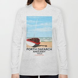 Porth Dafarch, Anglesey vintage travel poster Long Sleeve T-shirt