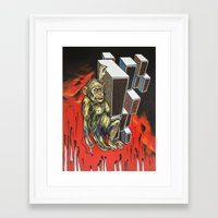 ape Framed Art Prints featuring Ape by VikaValter