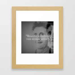 George Orwell - Reality Exists in the Human Mind Framed Art Print