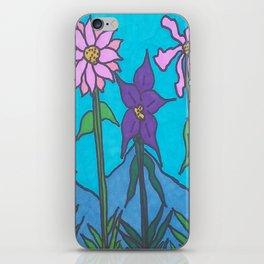 Blue Mountain Flowers iPhone Skin