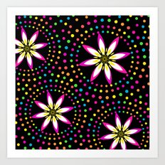 Floral Colorful Circles Art Print